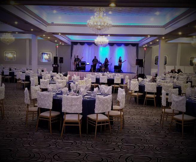 Band in ballroom
