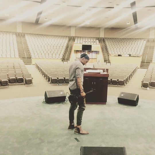 Soundcheck before the event