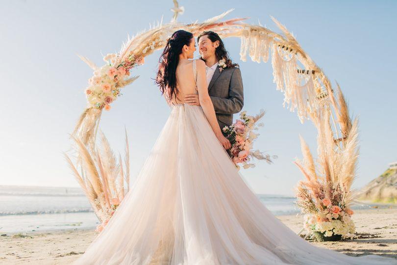 Carlsbad beach wedding