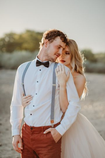 Bride and groom Fall vibes