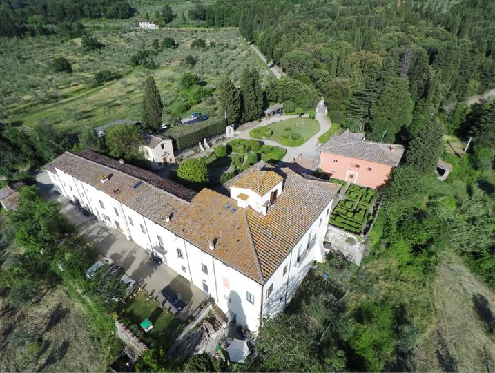 Drone view showing Villa Ersilia
