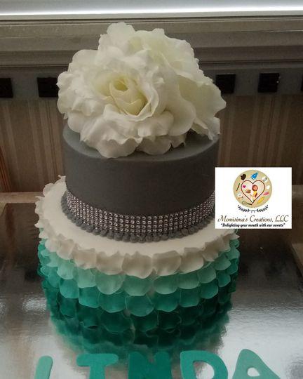 Petal fondant cake