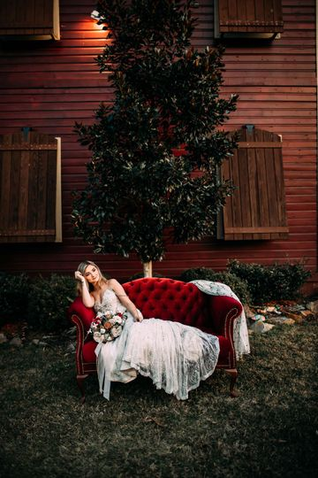 Red sofa rental