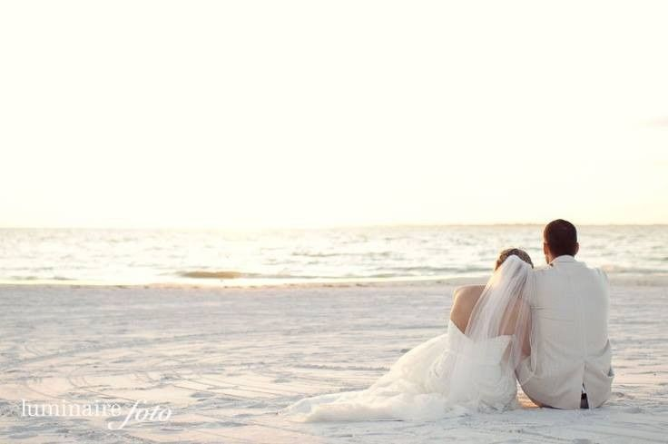 Couple sitting on the shore