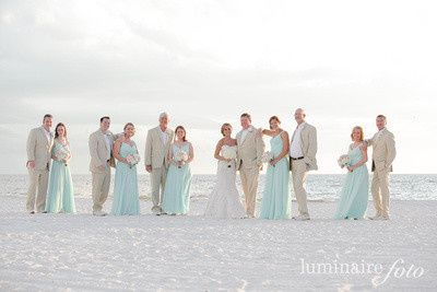 Bridesmaids and groomsmen portrait