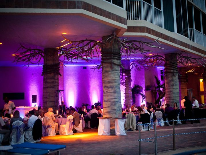 Tmx 1363380934149 BanyangrovePurpleuplights Fort Myers Beach wedding venue