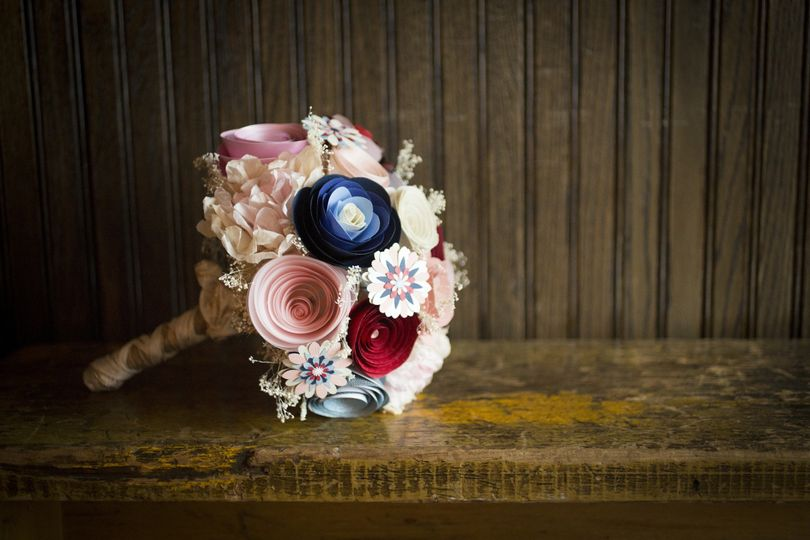 Paper Flower Bridal Bouquet Bespoke creations by Paper Portrayals