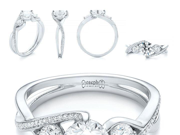 Tmx 1513118187533 05   Custom Three Stone Diamond Engagement Ring 10 Bellevue, WA wedding jewelry