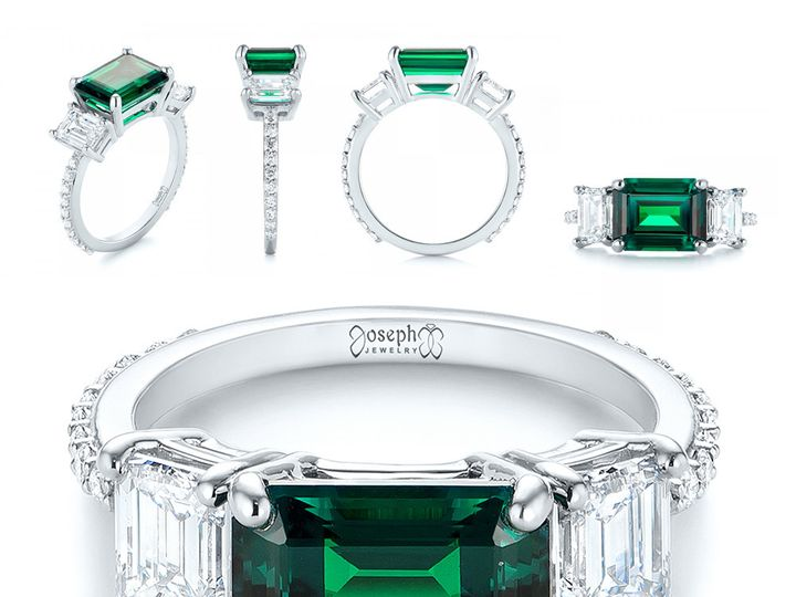 Tmx 1513118205693 07   Custom Three Stone Emerald And Diamond Engage Bellevue, WA wedding jewelry