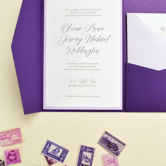 Violette pocket invitation