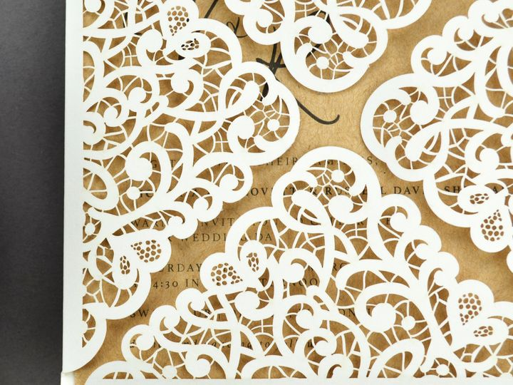Tmx 1520612301 300f20ba73c38631 1520612298 51a758de3f8ee624 1520612298131 7 Lace Laser Petalfo South Easton wedding invitation