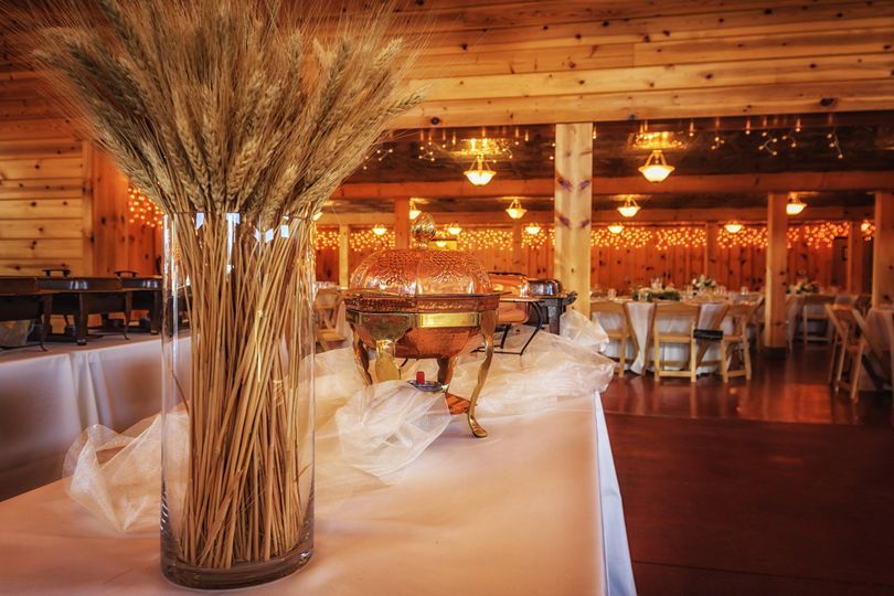 Country style reception set-up