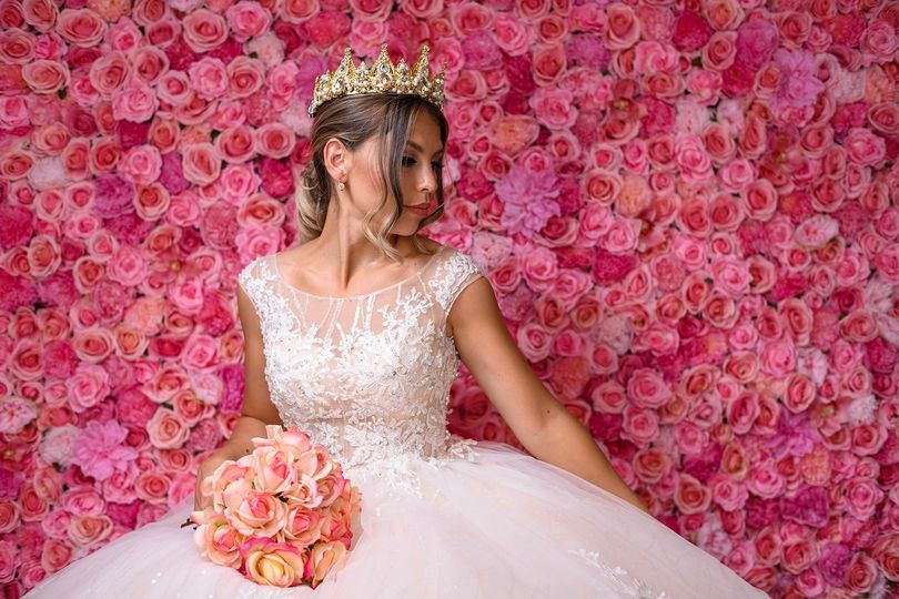 Princess Pink Flower Wall