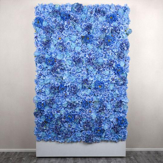 Jasmine Blue Flower Wall