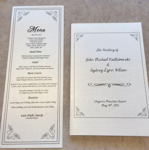 Tmx Program Menu 51 1828515 159837362453446 Monument, CO wedding invitation