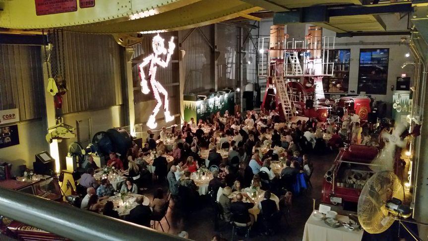 Hall of Giants Wedding Reception