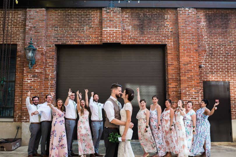 Bridal Party in Courtyard August