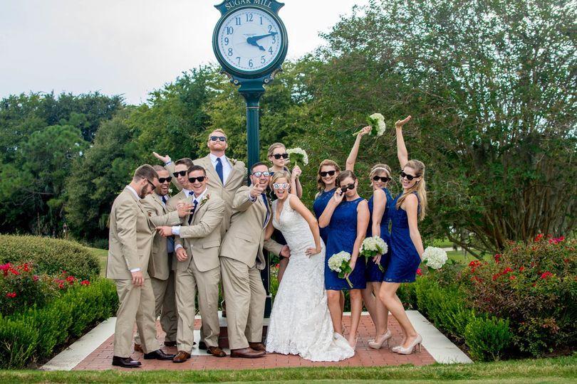 Couple & wedding attendant
