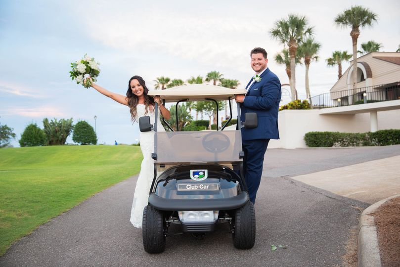 Couple on Cart