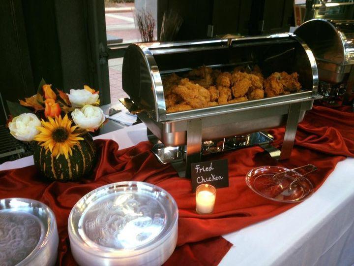 Chicken buffet area