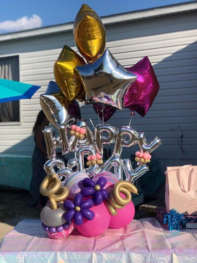 Balloons birthday bouquet