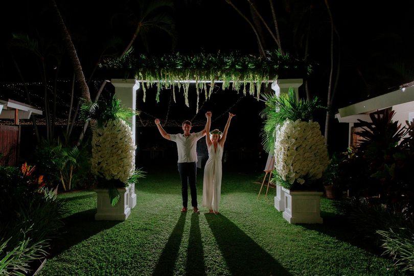 Oceanfront luxury wedding