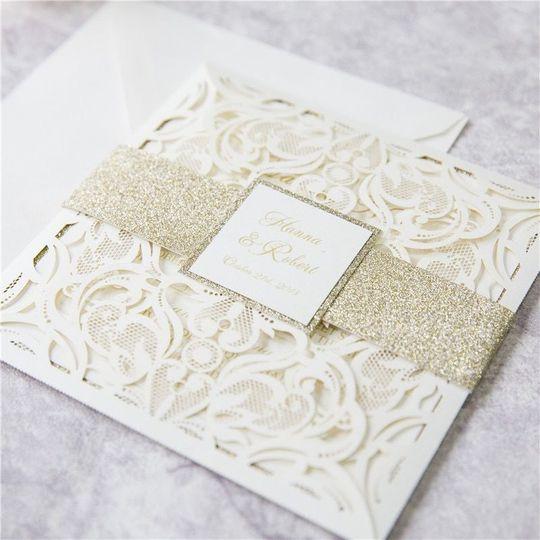 Cream white invitation
