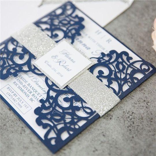 Blue gate like invitation