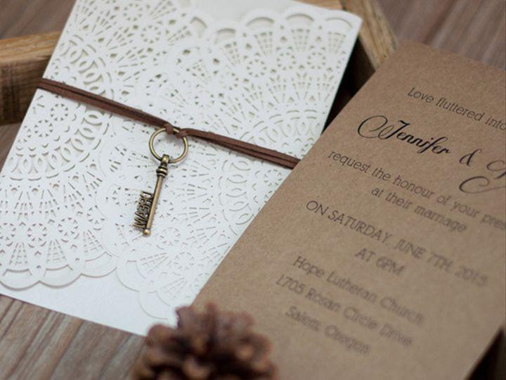 Tmx 1448046522027 Wpl00913 West Bloomfield, Michigan wedding invitation