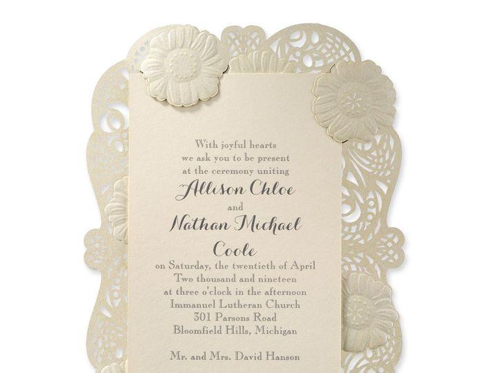Tmx 1453773716640 3150fvn39335zm West Bloomfield, Michigan wedding invitation
