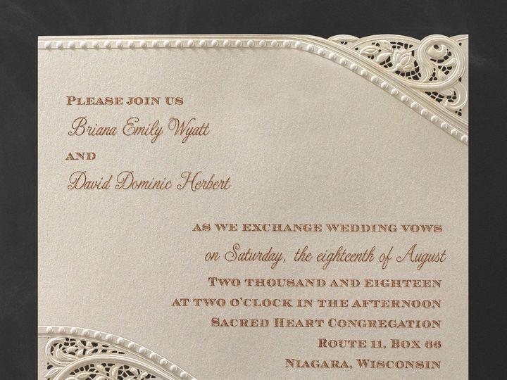 Tmx 1453773741213 3214mm13363zm West Bloomfield, Michigan wedding invitation