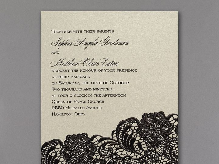 Tmx 1453773991334 3214mm13681zm West Bloomfield, Michigan wedding invitation