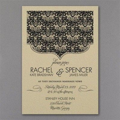 Tmx 1453774011875 3214mm39410gdmn 2 West Bloomfield, Michigan wedding invitation
