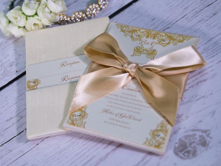 Tmx 1485620386445 Couture  Luxury 14 West Bloomfield, Michigan wedding invitation