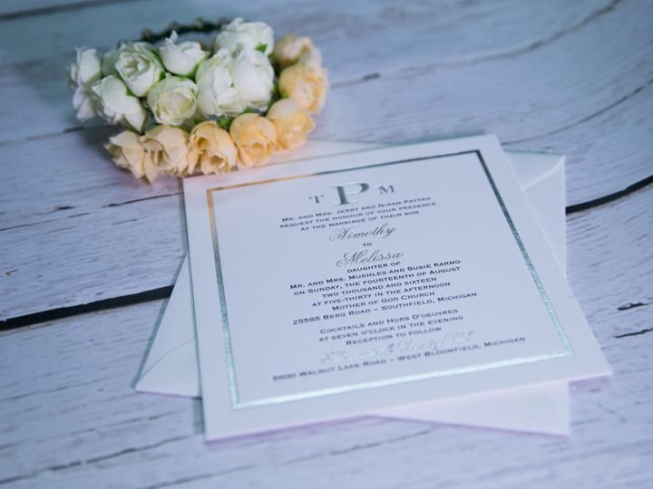 Tmx 1485621056479 Letterpress 14 West Bloomfield, Michigan wedding invitation