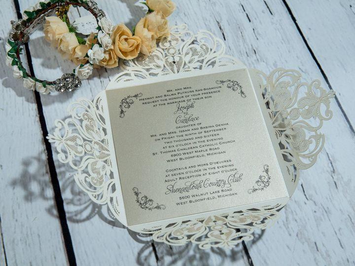 Tmx 1485830201148 Jens Invites Dec 84 West Bloomfield, Michigan wedding invitation