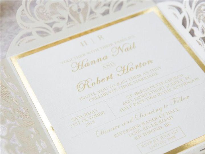 Tmx 1520609282 92f258944cf2c254 1520609281 Ad56375c02f83c4f 1520609277658 6 WPL0019S1 2 West Bloomfield, Michigan wedding invitation