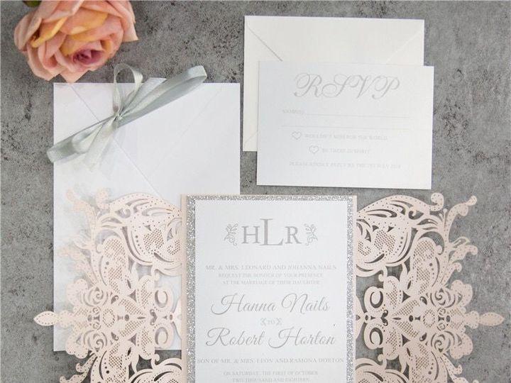 Tmx 1520609285 B671eb791d47ca60 1520609283 4fd31103126c9ae4 1520609277661 11 WPL0156S West Bloomfield, Michigan wedding invitation