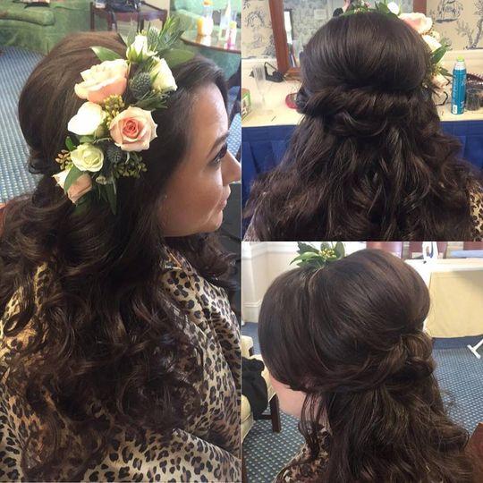 Half down bride hair