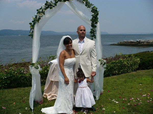 Myrna and Ritchie get married by the edge of the Hudson River in Dobbs Ferry, NY.
