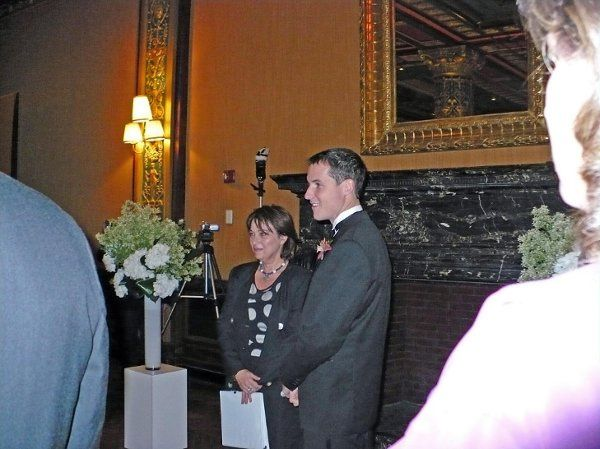 Kevin and I and everyone else waiting for Kristin to walk down the long aisle. Please see their...