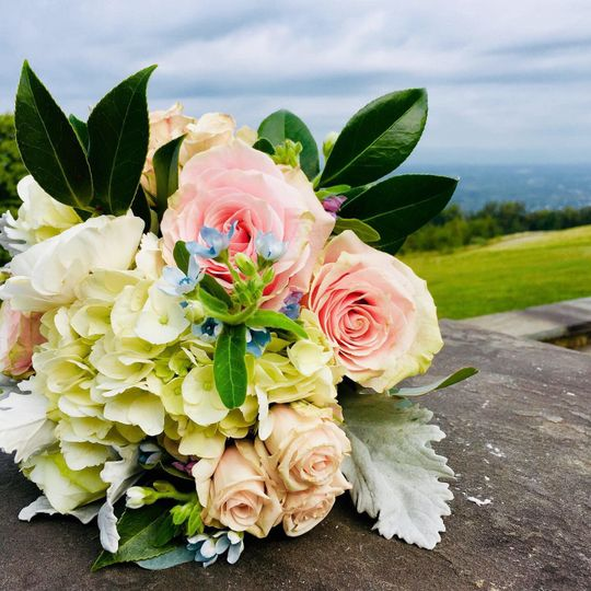 Bridal bouquet at Montalto