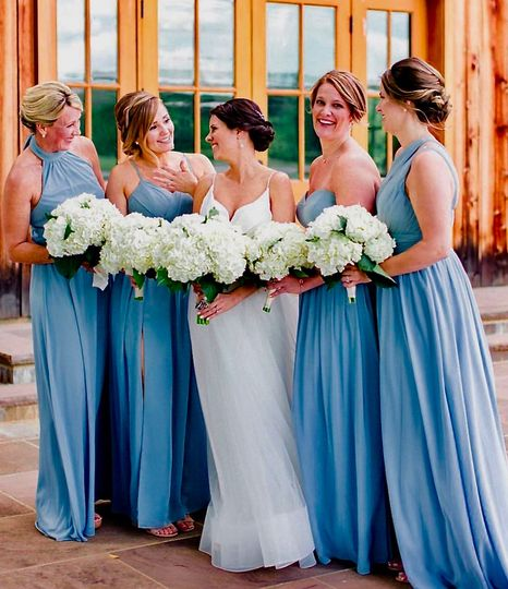 Christina and her bridesmaids,
