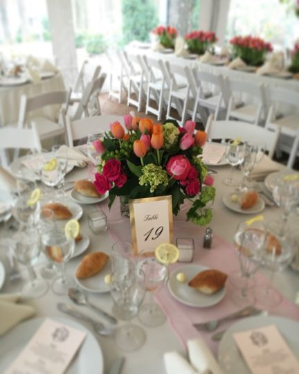 Spring banquet table