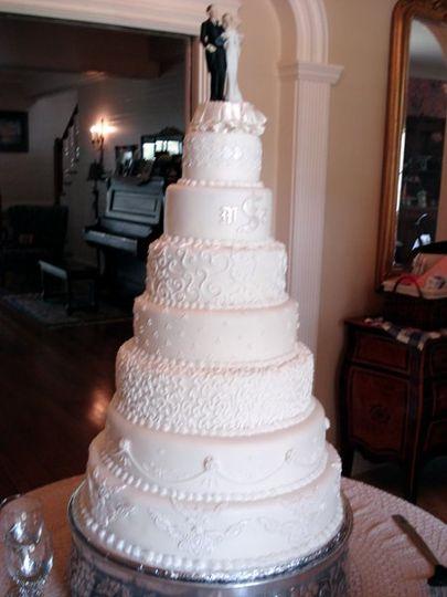 7-tier wedding cake