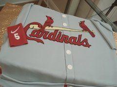 Cardinals jersey cake