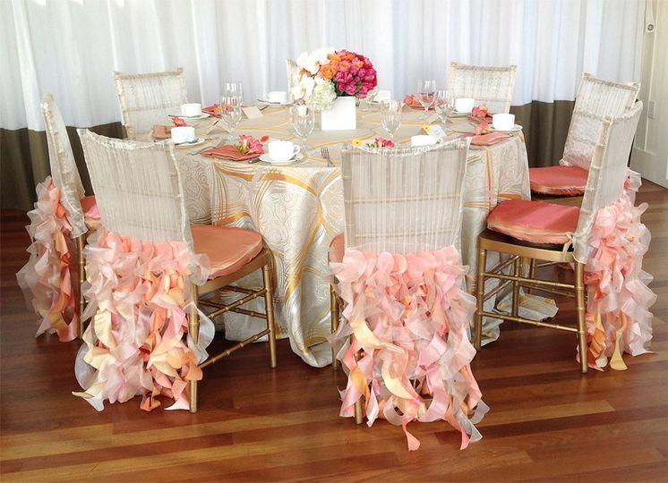 Sherbet inspired wedding brunch