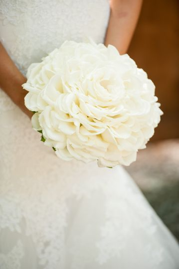 White rose petals composite glameila style bouquet