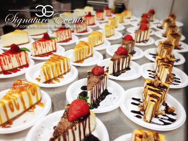 Assorted New York Style Cheesecake Varieties.