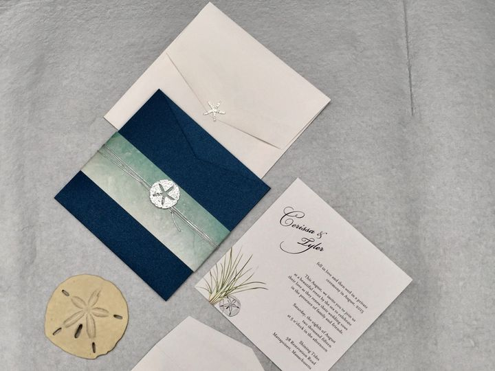 Tmx By The Sea Invite Package 51 1037615 V1 New Bedford, MA wedding invitation